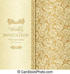 Einladung Barock Gold Wedding Antikes Hochzeitskarten Beiger