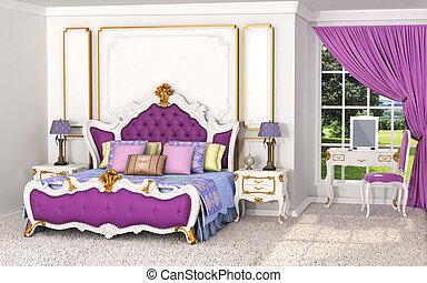 goldenes wohnsitz k niglich schalfzimmer inneneinrichtung barock m bel. Black Bedroom Furniture Sets. Home Design Ideas