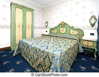 Barok slaapkamer stijl kleuren beige slaapkamer interieur