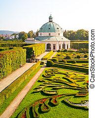 baroko, květ, rotunda, zahrada, kromeriz