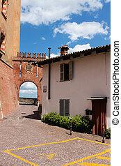 Barolo village of Italy