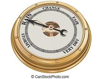 Barometer indicating rain - Isolated illustration of a...
