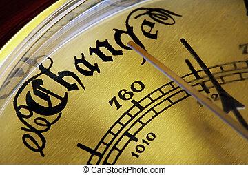 Barometer of Change - Barometer indicating a change coming....