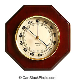 Barometer isolated on a white background