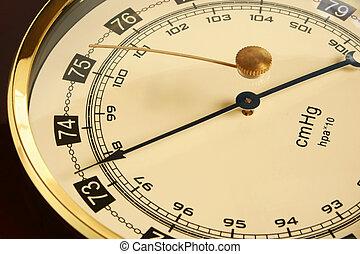 Barometer - Closeup of a barometer, a horizontal picture