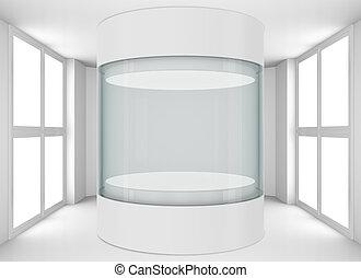 barometr, místo, čistit, vitrina