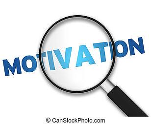 barometr, motivace, -, zvetšovací sklo