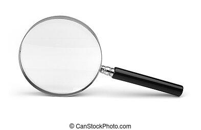 barometr, neposkvrněný, zvetšovací sklo