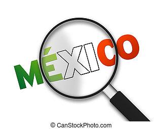 barometr, -, zvetšovací sklo, mexiko