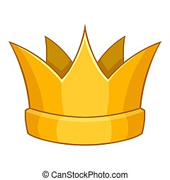 Baronet crown icon, cartoon style - Baronet crown icon....