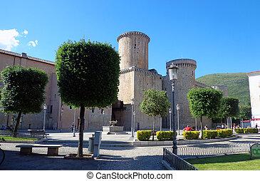 Baronial Caetani Castle built in 1319 in Fondi, Italy