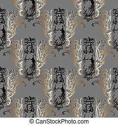 baroque antique seamless pattern