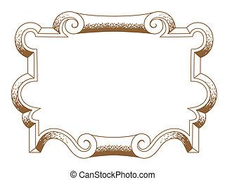 baroque architectural ornamental decorative frame - baroque...