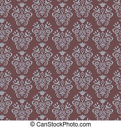 Baroque blue and brown background f