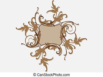 Baroque brown frame