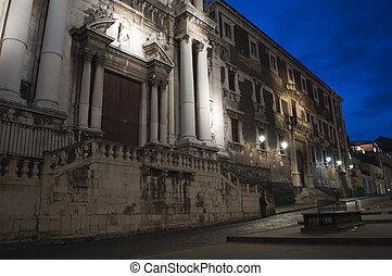 Baroque church in Catania Sicily Italy, San Francesco Borgia...