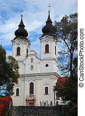Baroque Church in Tihany, Hungary