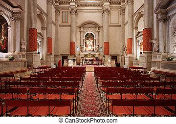 Baroque church interior - San Vidal in Venice - beautiful...