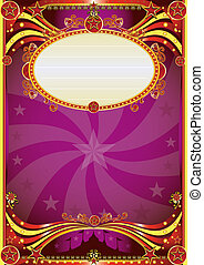 Baroque circus background - A purple circus background for a...