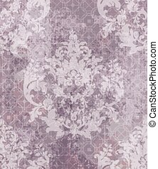 Baroque classic damask pattern ornament Vector. Royal fabric...