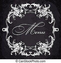 baroque, décoratif, cadre
