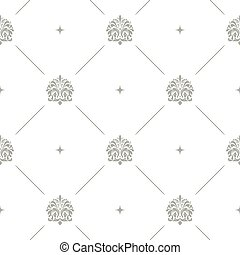 Baroque damask seamless background