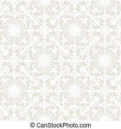 Baroque damask seamless vector background.