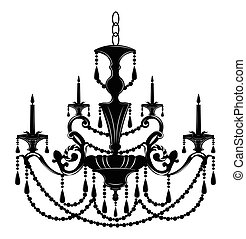 Baroque Elegant Wall lamp with ornaments. Vector Elegant ...