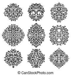 Baroque elements vector