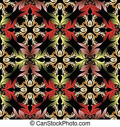 Baroque embroidery seamless pattern