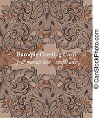 Baroque frame decor for invitation, wedding, greeting cards. Vector illustrations