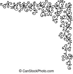 Baroque Frozen vignette 314 Eau-forte black-and-white decorative background pattern vector illustration EPS-8