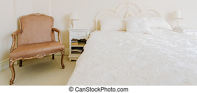 Baroque furniture in luxury bedroom
