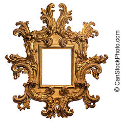 Baroque Gold Plated Wooden Picture Frame with Path