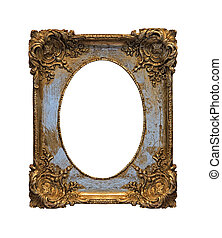 Baroque grunge frame - Old baroque grunge frame isolated...