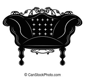 Baroque Imperial armchair