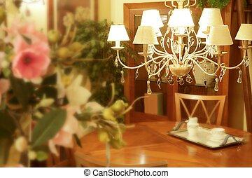 Baroque italian chandelier wooden livingroom table