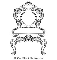 Baroque luxury style chair