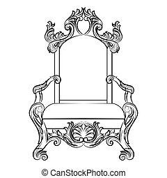 baroque, meubles, style, luxe