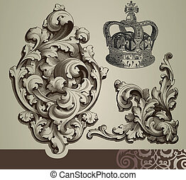baroque, ornements
