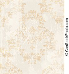 Baroque pattern vintage background Vector. Ornamented texture design. Original textile decors