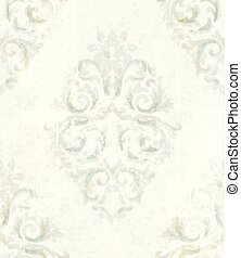 Baroque pattern vintage background Vector. Ornamented texture luxury design. Royal textile decors