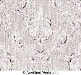 Baroque pattern vintage background Vector. Ornamented texture luxury design. Royal textile decors