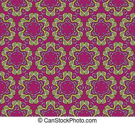 Baroque pattern with swirls on a dark purple background