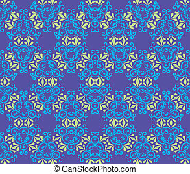 Baroque pattern with swirls on a purple background