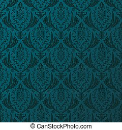 baroque, retro, wallpaper., fond, seamless, vecteur, vendange