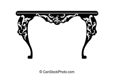 Baroque Rich table with ornaments