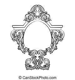 Baroque Rococo Exquisite Mirror frame decor
