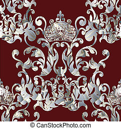 Baroque royal seamless pattern.
