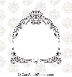 Baroque Royal Vector Frame